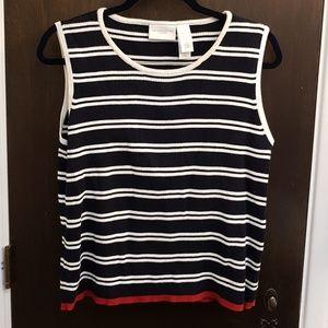 Liz Claiborne L striped sweater set